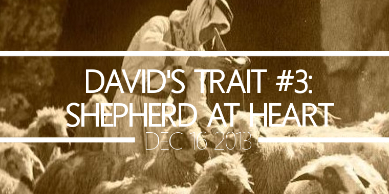 David's Trait #3- Shepherd at Heart